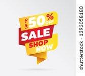 vector sale banner template... | Shutterstock .eps vector #1393058180