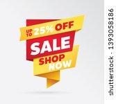 vector sale banner template... | Shutterstock .eps vector #1393058186