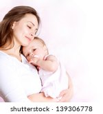 mother and baby kissing and... | Shutterstock . vector #139306778