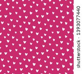 cute heart pattern. endless... | Shutterstock .eps vector #1393077440