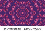 colorful leaves pattern.... | Shutterstock .eps vector #1393079309