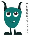 a blue monster with long and... | Shutterstock .eps vector #1393079819