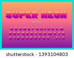 vector neon color font and... | Shutterstock .eps vector #1393104803