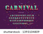 vector carnival font and... | Shutterstock .eps vector #1393104809