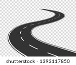 winding road. journey traffic... | Shutterstock . vector #1393117850
