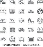 thin line icon set   departure... | Shutterstock .eps vector #1393135316