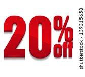 20 percent off digits | Shutterstock .eps vector #139315658