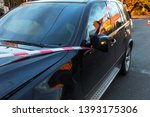 car accident on the road in the ... | Shutterstock . vector #1393175306