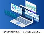 user interface design. laptop...