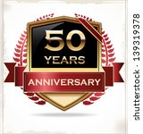50 years anniversary golden label