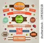 set of vector retro ribbons ... | Shutterstock .eps vector #139320218