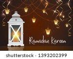 lantern for holiday  garden  on ... | Shutterstock .eps vector #1393202399