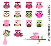 vector set of girl baby shower... | Shutterstock .eps vector #139320350