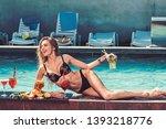 drink fresh vitamin juice  diet.... | Shutterstock . vector #1393218776