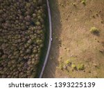 country road with stop car ... | Shutterstock . vector #1393225139