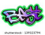 graffiti vector art urban... | Shutterstock .eps vector #139323794