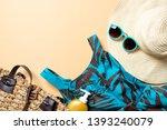 women's beach accessories ... | Shutterstock . vector #1393240079