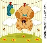 arte,bebé,fondo,oso,abeja,chico,no,tarjeta,dibujos animados,niño,pinzas,nube,felicitaciones,cordón,creativa