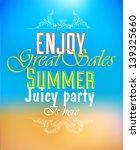 bright summer hipster label... | Shutterstock .eps vector #139325660