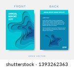 abstract annual report cover... | Shutterstock .eps vector #1393262363