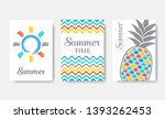 simple colourful vector summer... | Shutterstock .eps vector #1393262453
