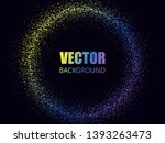 abstract round frame. glowing... | Shutterstock .eps vector #1393263473