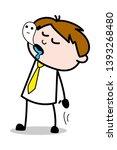 soul leaving body   office... | Shutterstock .eps vector #1393268480