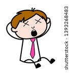 groaning with pain   office... | Shutterstock .eps vector #1393268483