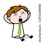 unconscious   office salesman... | Shutterstock .eps vector #1393268486