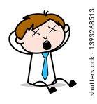 unconscious   office salesman... | Shutterstock .eps vector #1393268513