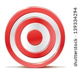 red darts target aim on white... | Shutterstock . vector #139334294