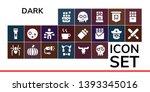 dark icon set. 19 filled dark...   Shutterstock .eps vector #1393345016