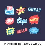 expressive sayings flat vector... | Shutterstock .eps vector #1393362890