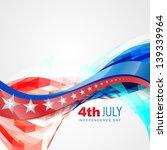 vector wave style american... | Shutterstock .eps vector #139339964