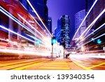traffic in city at night | Shutterstock . vector #139340354
