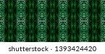 snake skin. black  green  white ...   Shutterstock . vector #1393424420