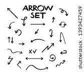 hand drawn vector arrow... | Shutterstock .eps vector #1393427459