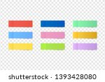 sticky colored notes. post note ... | Shutterstock .eps vector #1393428080