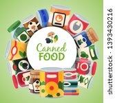 canned food poster vector... | Shutterstock .eps vector #1393430216