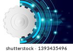 abstract blue background... | Shutterstock .eps vector #1393435496