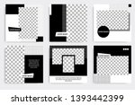 six set editable minimal square ... | Shutterstock .eps vector #1393442399
