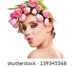 beauty woman portrait with... | Shutterstock . vector #139345568