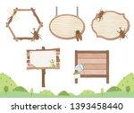 summer bugs vector frame set  | Shutterstock .eps vector #1393458440