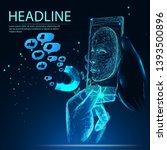 social media concept with user... | Shutterstock .eps vector #1393500896