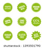 healthy food icon set  natural... | Shutterstock .eps vector #1393501790