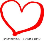 this is a cute hand drawn heart ... | Shutterstock .eps vector #1393511840
