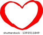 this is a cute hand drawn heart ...   Shutterstock .eps vector #1393511849
