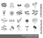 20 party celebration food... | Shutterstock .eps vector #139354850