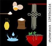 homemade asian food self... | Shutterstock .eps vector #1393561616