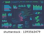 bar charts  column charts and... | Shutterstock .eps vector #1393563479